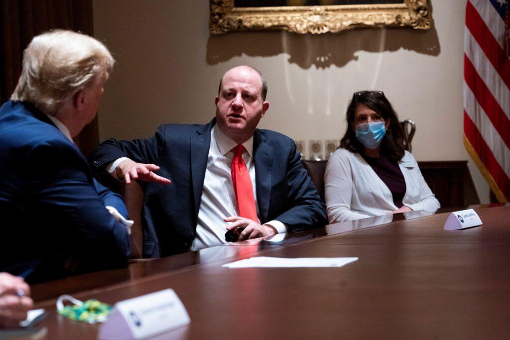 Polis se reunió con Trump