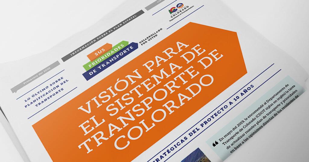 comentarios sobre el Plan de Transporte de Colorado
