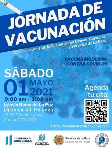 Guatemaltecos tendrán jornada de vacunación