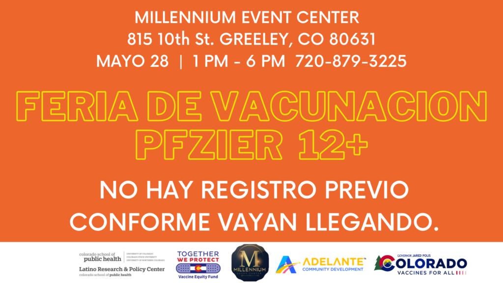 Feria de vacunación en Greeley el viernes 28 de mayo