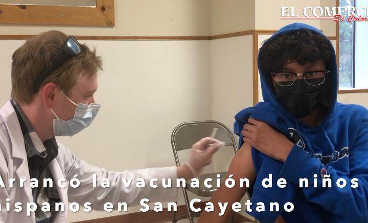 Primeros niños hispanos se vacunaron en San Cayetano