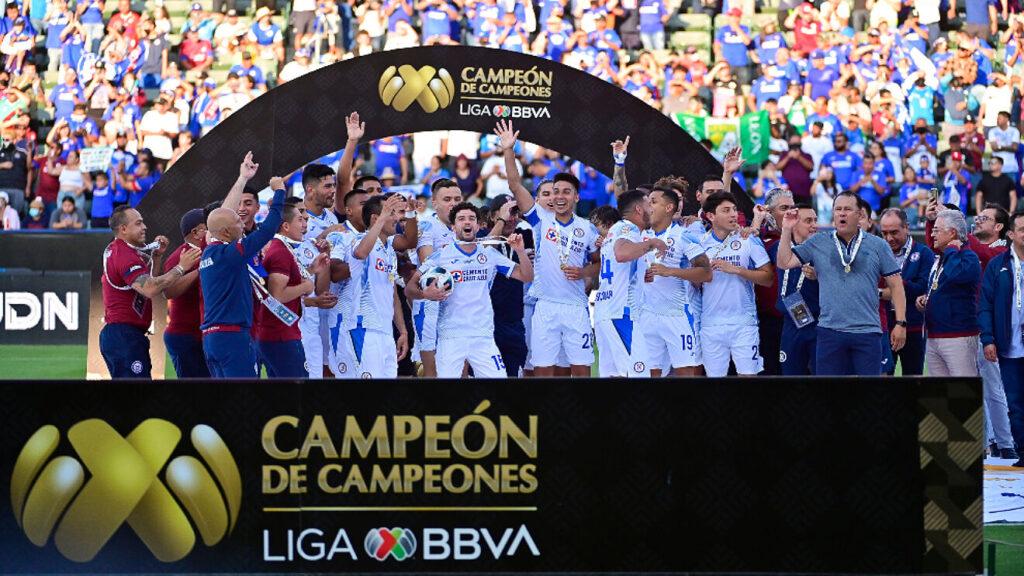 El Cruz Azul se coronó Campeón de Campeones de la Liga MX