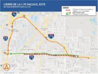 Cierre total de la I-70 en dirección Este desde el 16 de julio