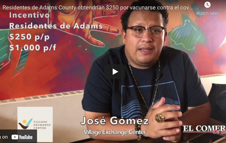 Residentes de Adams County obtendrían $250 por vacunarse contra el covid