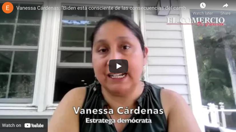 """Vanessa Cárdenas: """"Biden está consciente de las consecuencias del cambio climático en EEUU"""""""